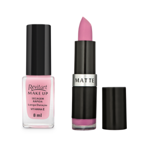 combinacao esmalte_carol e batom_romance - revitart make up