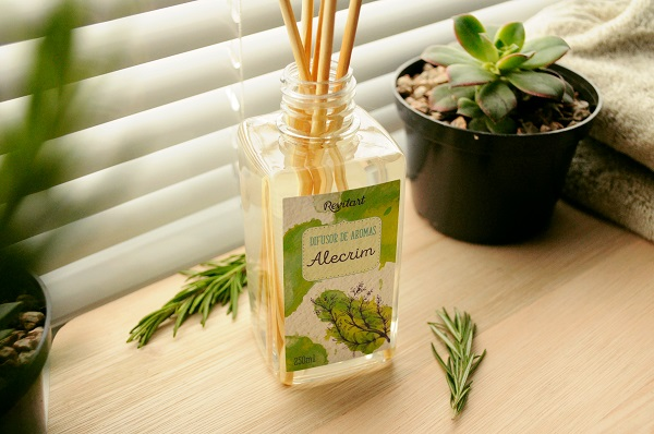 difusor de aromas alecrim