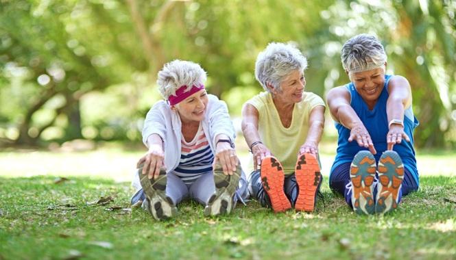 exercícios de alongamento