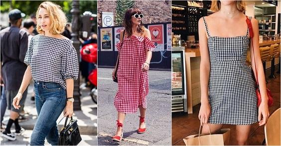 moda verão 2018 vichy