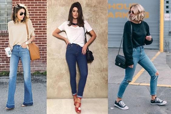 looks com jeans blusa pra dentro