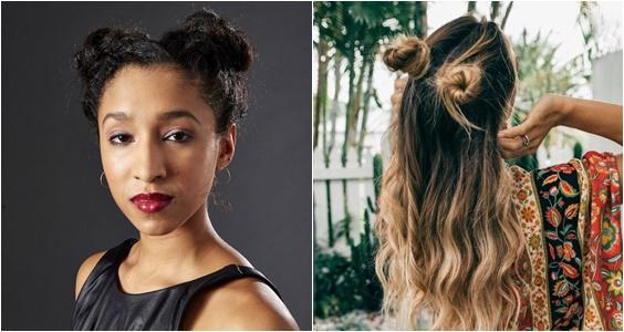 penteados de verão 2018 space bun