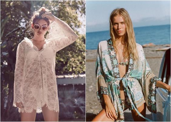 tendência moda praia 2018 kimono