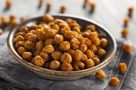 dicas de lanches saudáveis grão de bico crocante