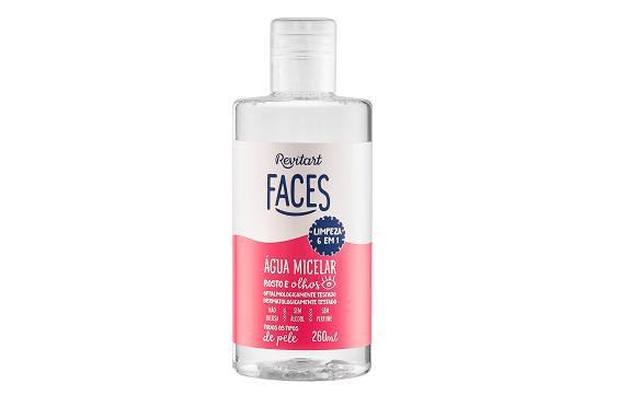Água micelar revitart faces