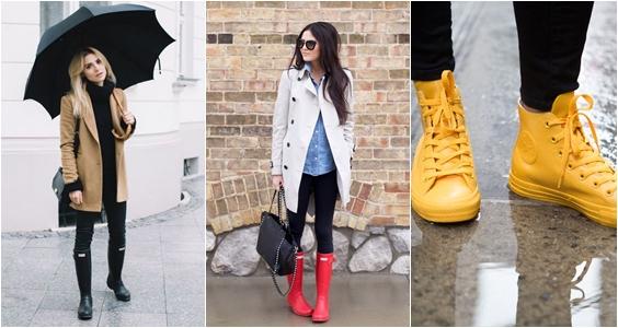 calçados para chuva