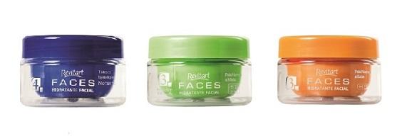 hidratantes faciais revitart faces