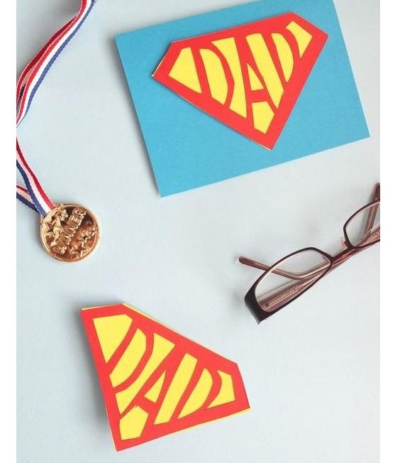 cartão dia dos pais super herói