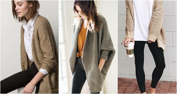 cardigans para usar no home office