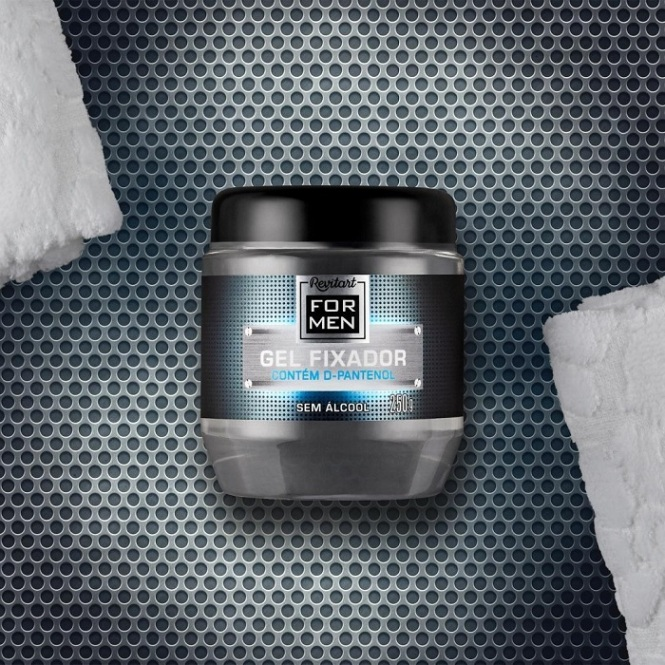 Gel Fixador sem Álcool Revitart For Men